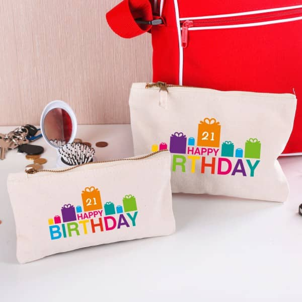 Beauty Case Happy Birthday mit Wunschalter