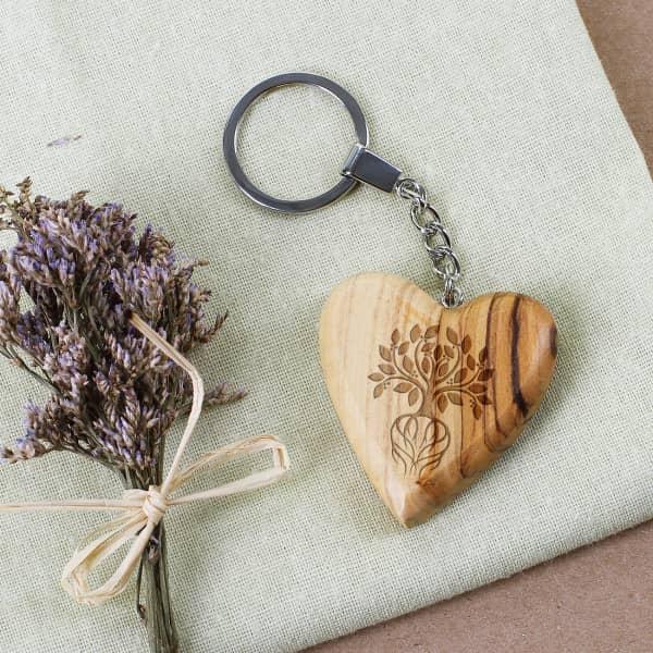 Holz des Lebens - Schlüsselanhänger aus Olivenholz