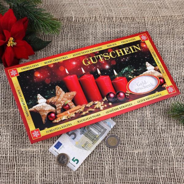 XXL Gutscheinkuvert Weihnachtsgutschein
