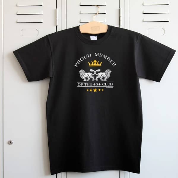 T-Shirt schwarz - Proud Member 40+ Club