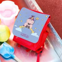 Kindergartenrucksack mit Knuddelhorn und dem Namen Ihres Kindes