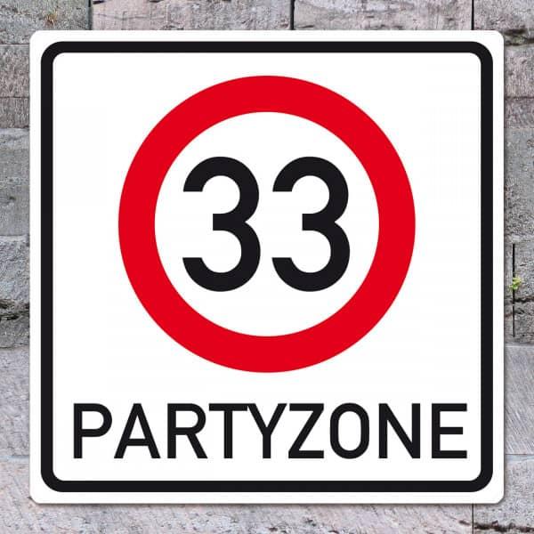 PVC-Schild zum 33. Geburtstag