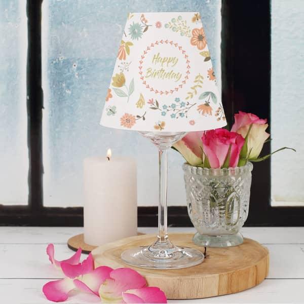 Bedruckter Lampenschirm für Weingläser