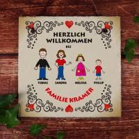 Schiefertafel - Herzlich Willkommen bei Familie...