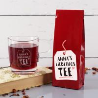 Tee und Teeglas im Set - Lieblings Tee - mit Name