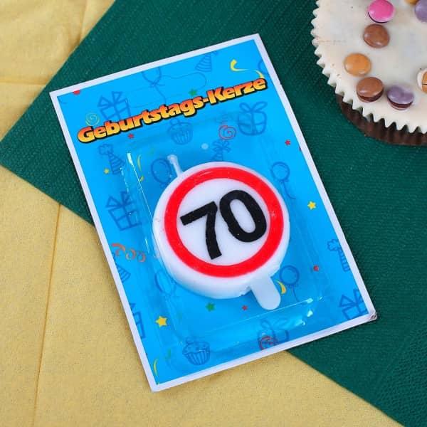 Geburtstagskerze zum 70.