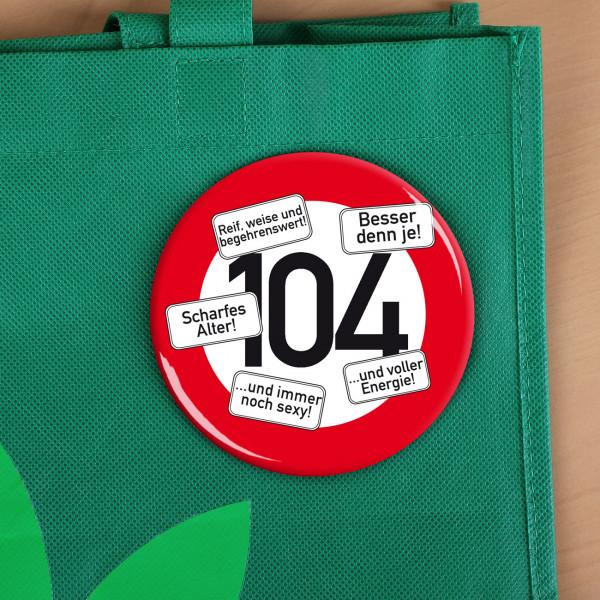 Riesen Button Verkehrsschild 104