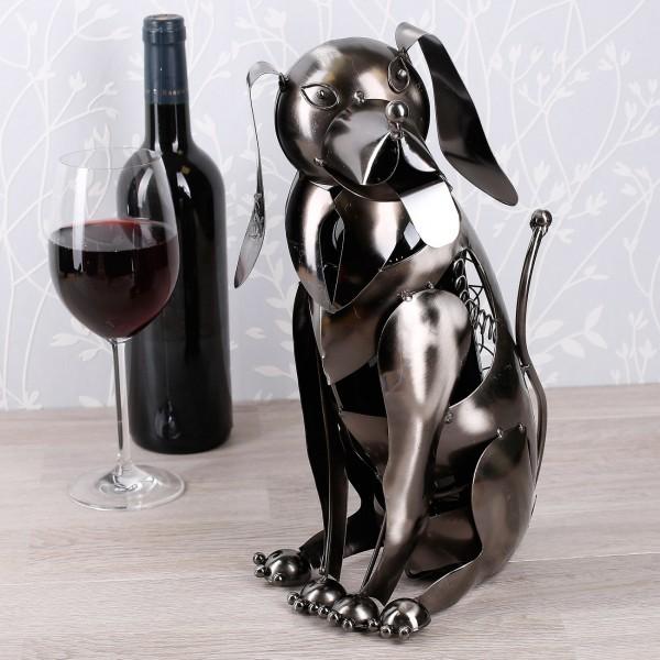 Metallflaschenhalter Hund