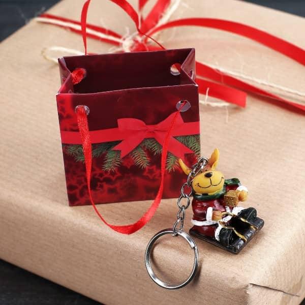 Rentier Schlüsselanhänger mit Geschenktüte