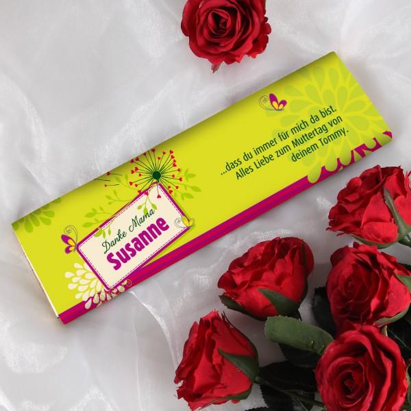 Muttertagsschokolade mit Wunschtext und Name