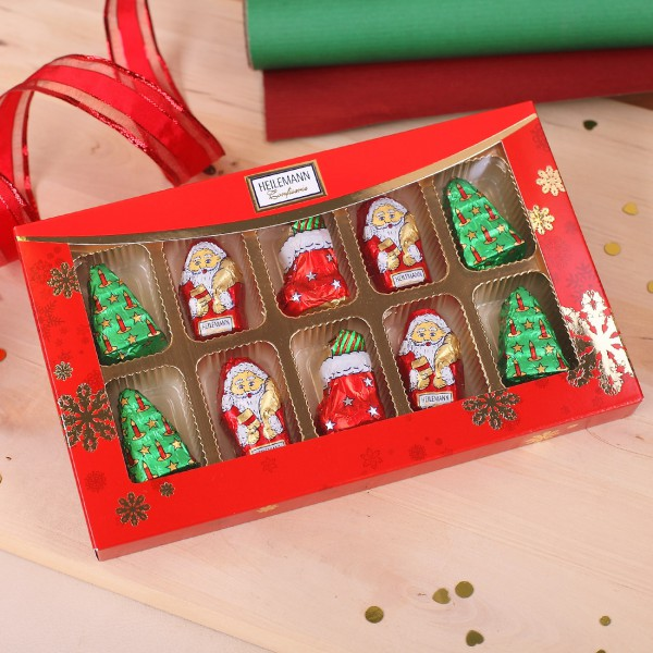 Feinste Weihnachtsfiguren aus Vollmilchschokolade