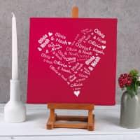 Leinwand mit dem Herz der Liebenden 30 x 30 cm