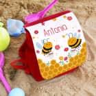 Kindergartenrucksack mit Bienchenmotiv und Wunschname bedruckt