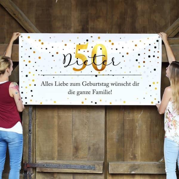 Persönliches Banner zum Geburtstag