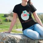 Flamingo T-Shirt mit Wunschtext für Damen