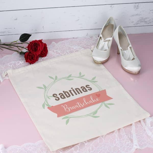 Brautschuhsack mit Name der Braut