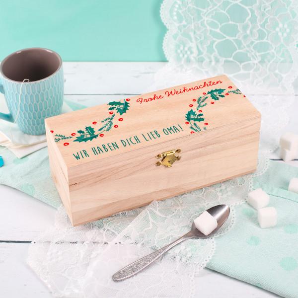 Teebox in 3 Größen mit Weihnachtsmotiv