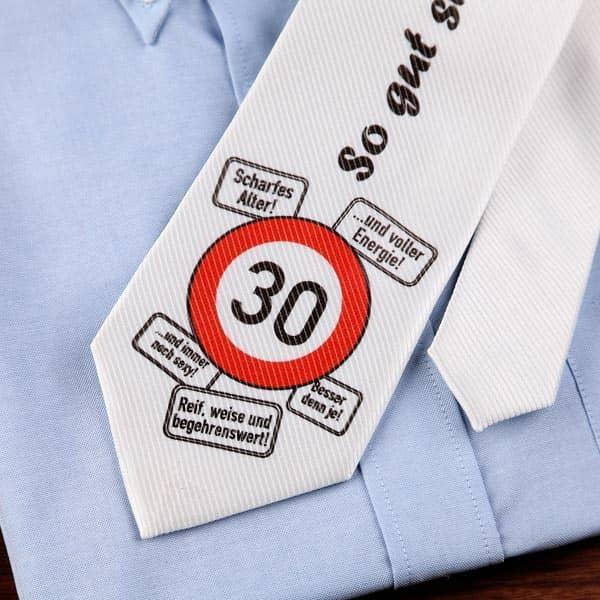 Krawatte Zum 30 Geburtstag Mit Wunschname