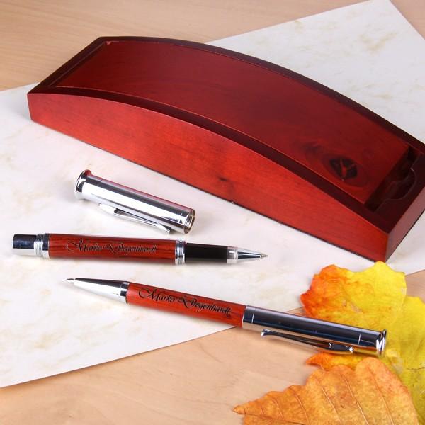 Schreibset mit Holzbox
