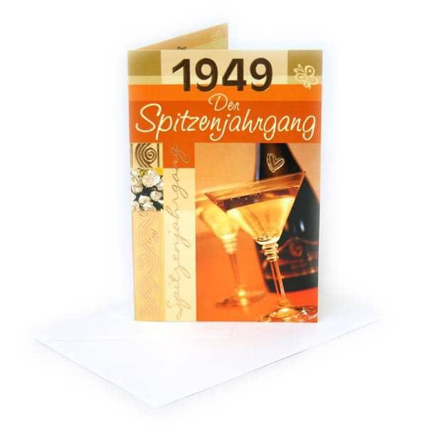 Geburtstagskarte 1949 Der Spitzenjahrgang