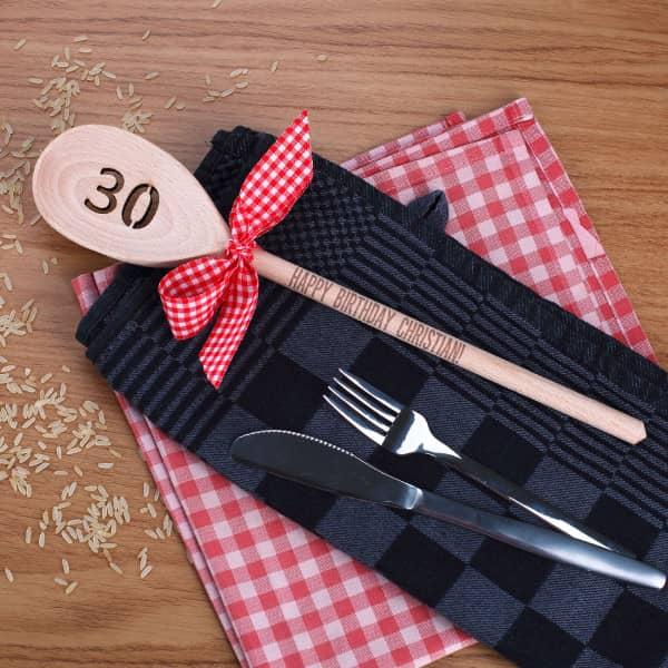 Kochlöffel zum 30. Geburtstag