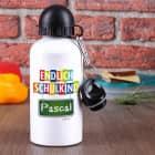 Endlich Schulkind - Trinkflasche mit Name