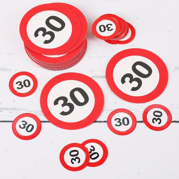 Tischkonfetti XL Verkehrsschilder 30