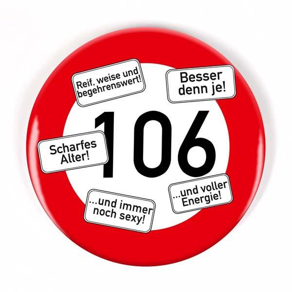 Button zum 106. Geburtstag