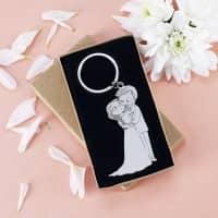 Brautpaar-Schlüsselanhänger mit Geschenkverpackung