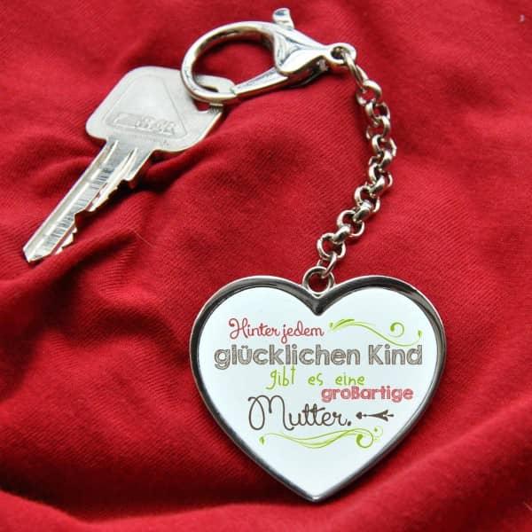 Schlüsselanhänger Herz zum Muttertag