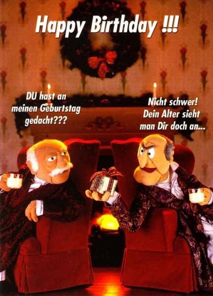 Postkarte als Grußkarte zum Geburtstag. Motiv Muppet-Show 1.
