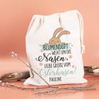 Blumenduft weht um die Nasen - Geschenksack zu Ostern mit Ihrem Wunschnamen
