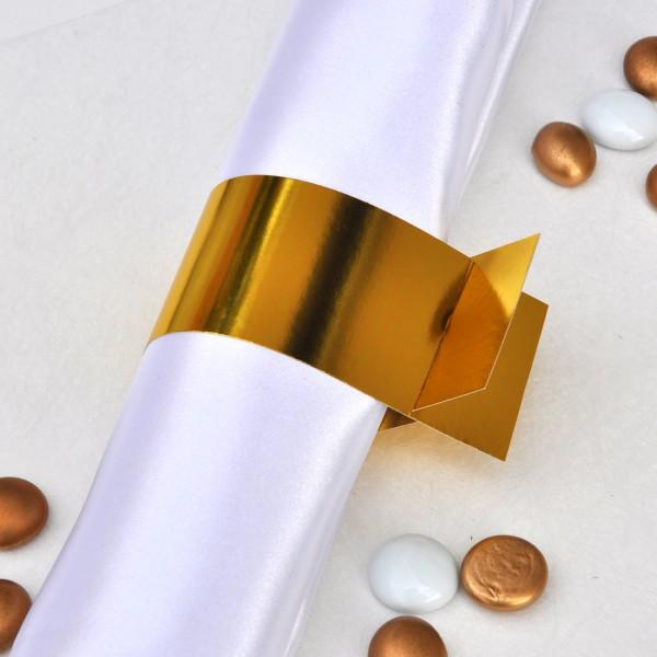 Goldene Serviettentringe im 6er-Set