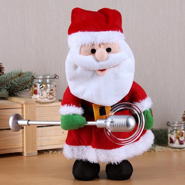singender Weihnachtsmann aus Plüsch