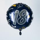 Folienballon zum 18. Geburtstag in dunkelblau