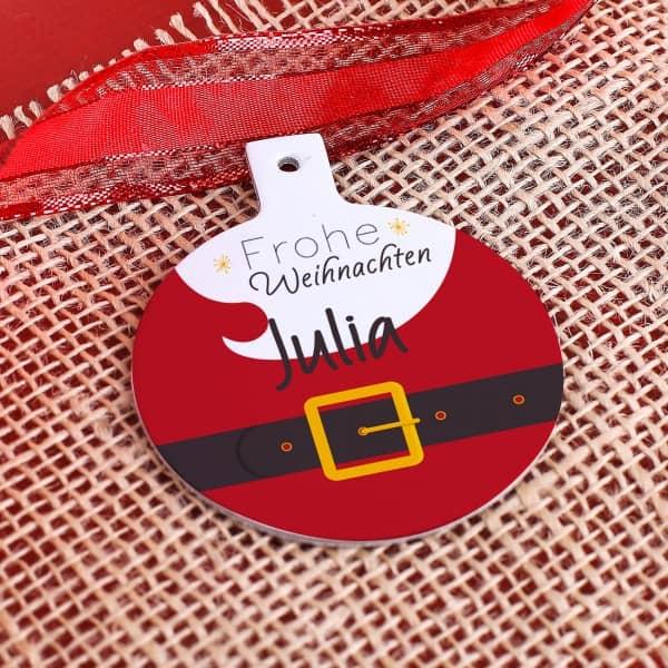Weihnachtsmann - Geschenkanhänger mit Wunschnamen