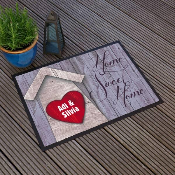 Fußmatte *Home Sweet Home* mit großem Herz