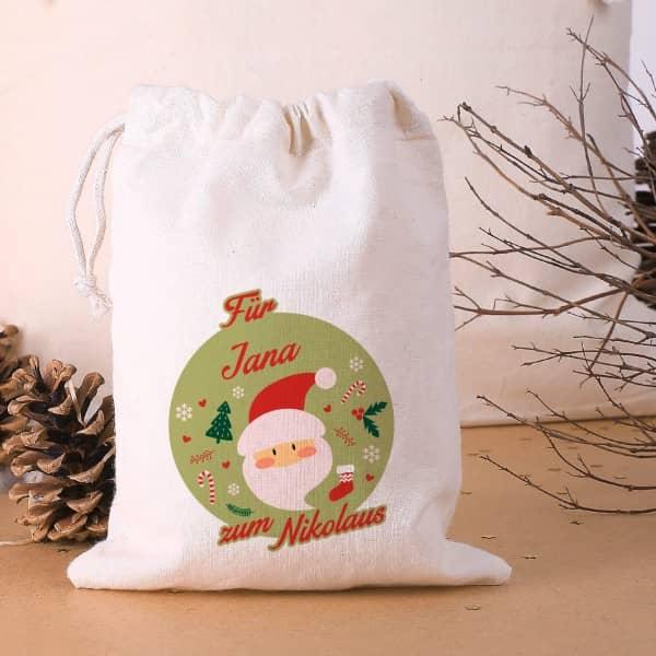 Baumwollsäckchen als Geschenverpackung zum Nikolaus