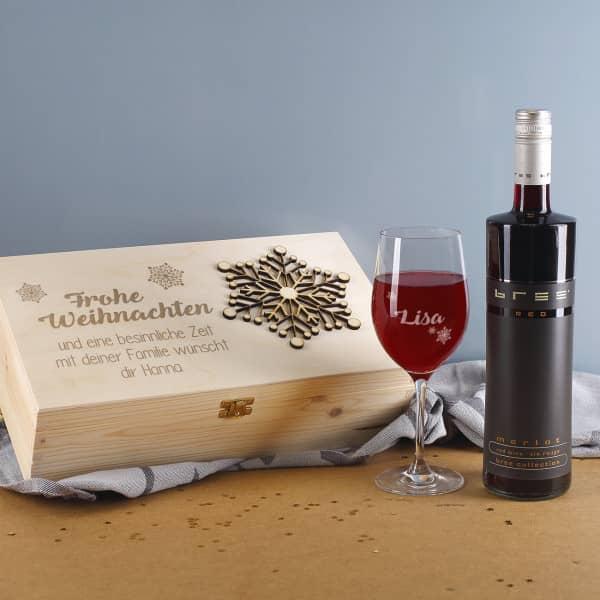 Geschenkset Rotwein zu Weihnachten