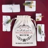 Geschenksack zu Weihnachten mit Wunschtext - most wonderful time of the year