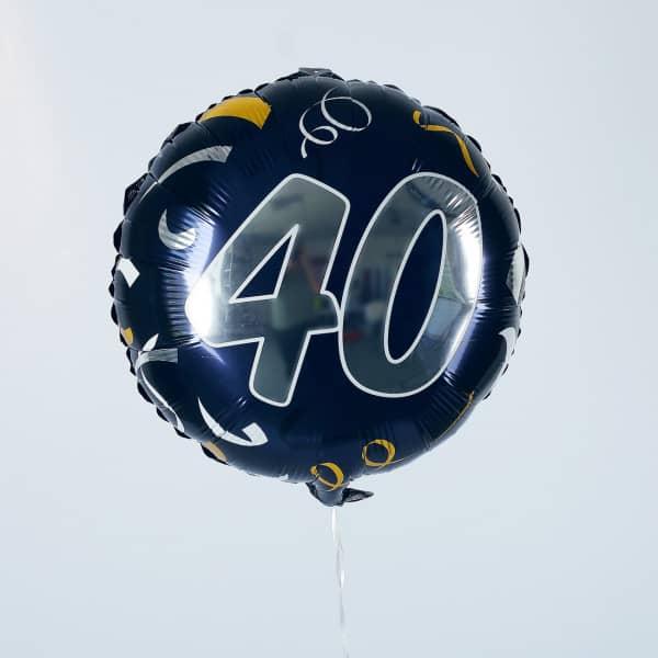 Folienballon zum 40. Geburtstag