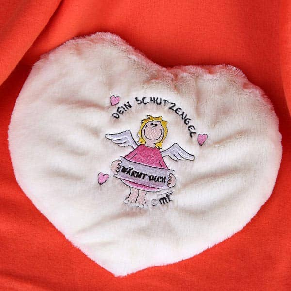 Wärmekissen Schutzengel Rosa in Herzform