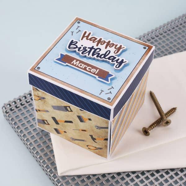Happy Birthday - Geschenkbox für Handwerker als Verpackung für Geldgeschenke und Gutscheine