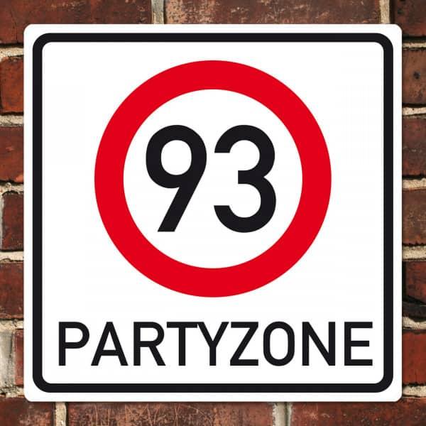 XL PVC Schild zum 93. Geburtstag