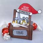 Süßer Weihnachtsgruß - Werkzeugkasten mit Name und Lindorkugeln