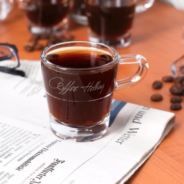 Espressoglas Coffee mit Ihrem Wunschnamen