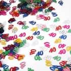 Deko für den Tisch - Zahlenkonfetti 40