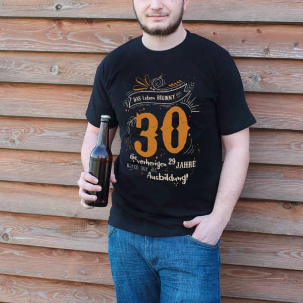 Geburtstagsshirt - Das Leben beginnt mit 30