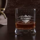 graviertes Whiskyglas Geniesser Limited mit Name und Geburtsjahr