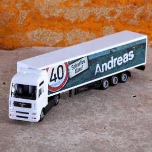 Mini-Truck mit Namen zum Geburtstag